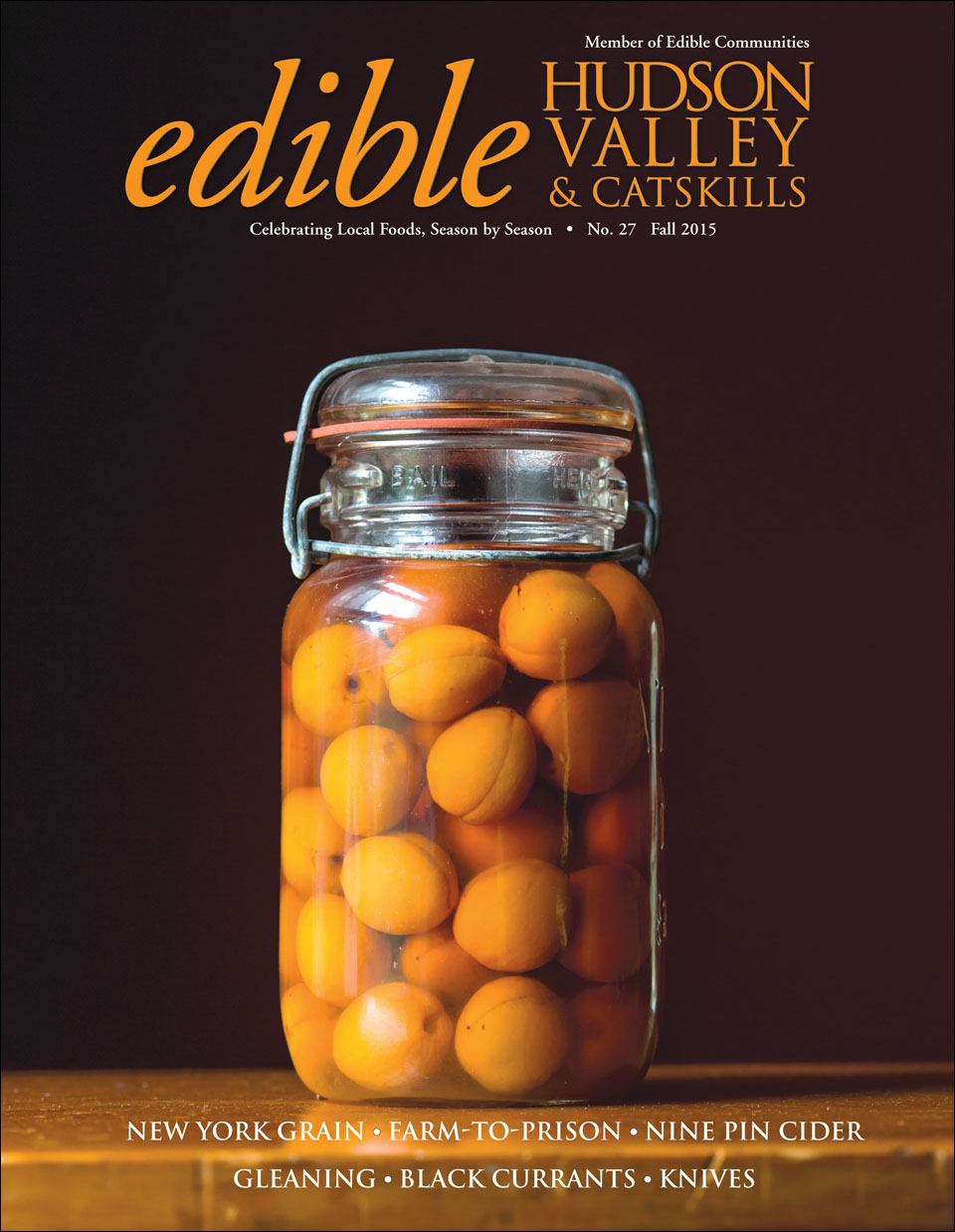 Edible Hudson Valley cover by NYC food photographer Jennifer May
