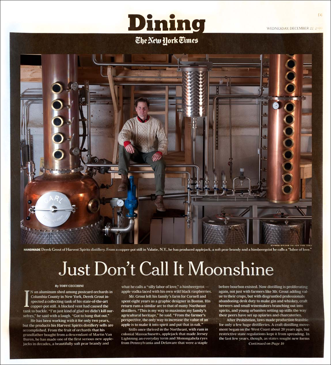 Food photographer Jennifer May Distillery NYTimes