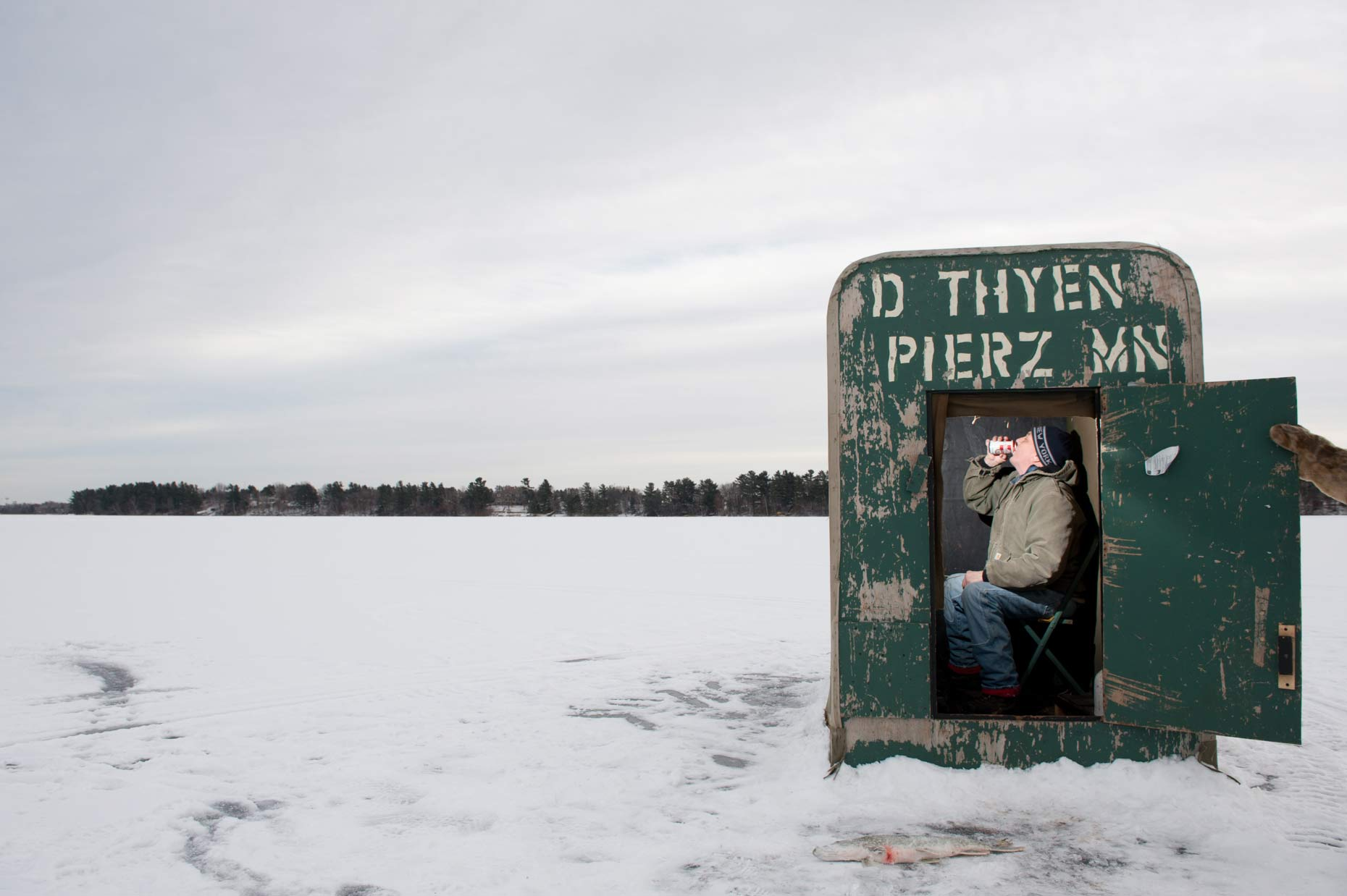 Ice fishing in Minnesota photographed by Jennifer May