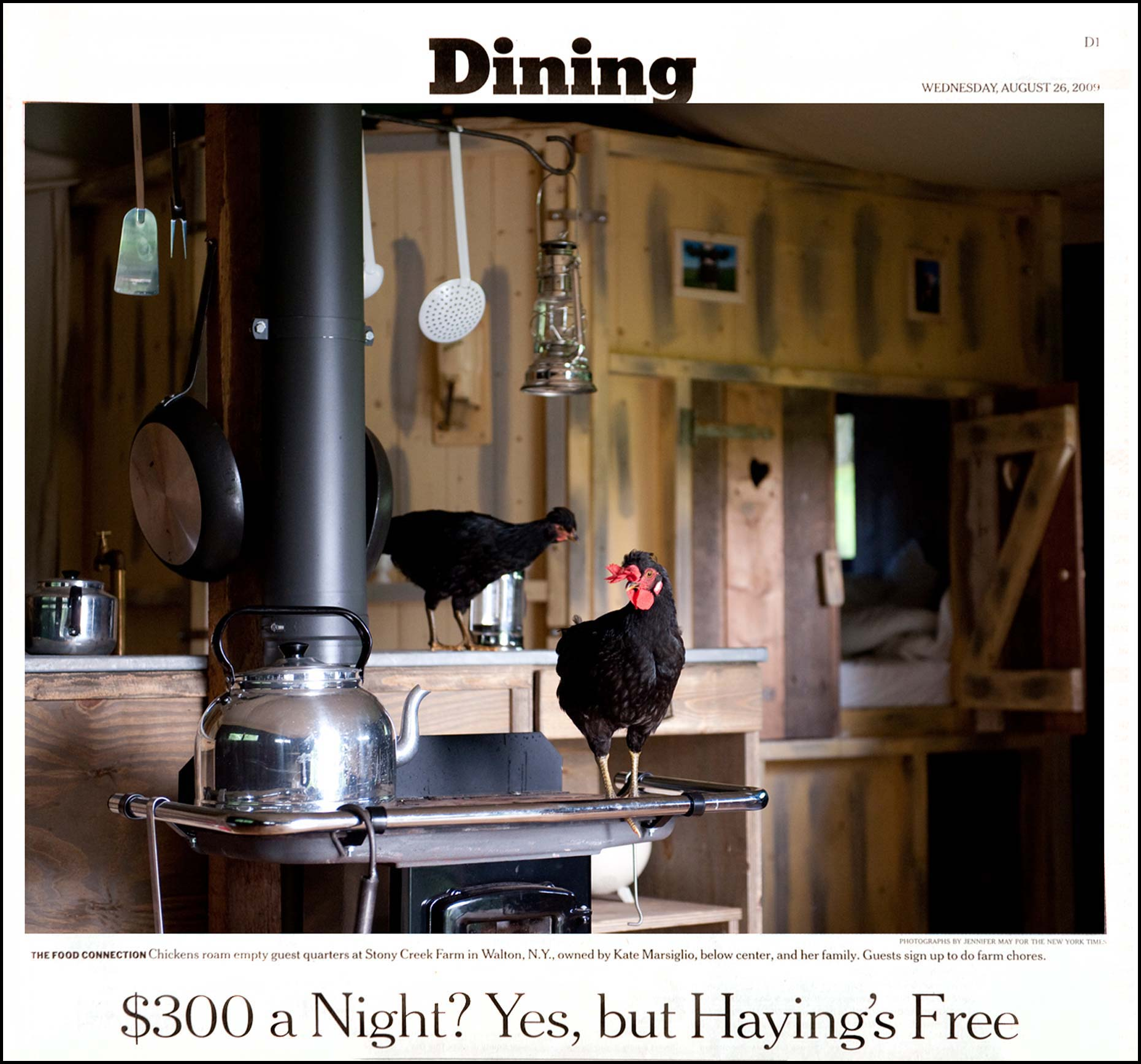 Food photographer Jennifer May Farmstay NYT