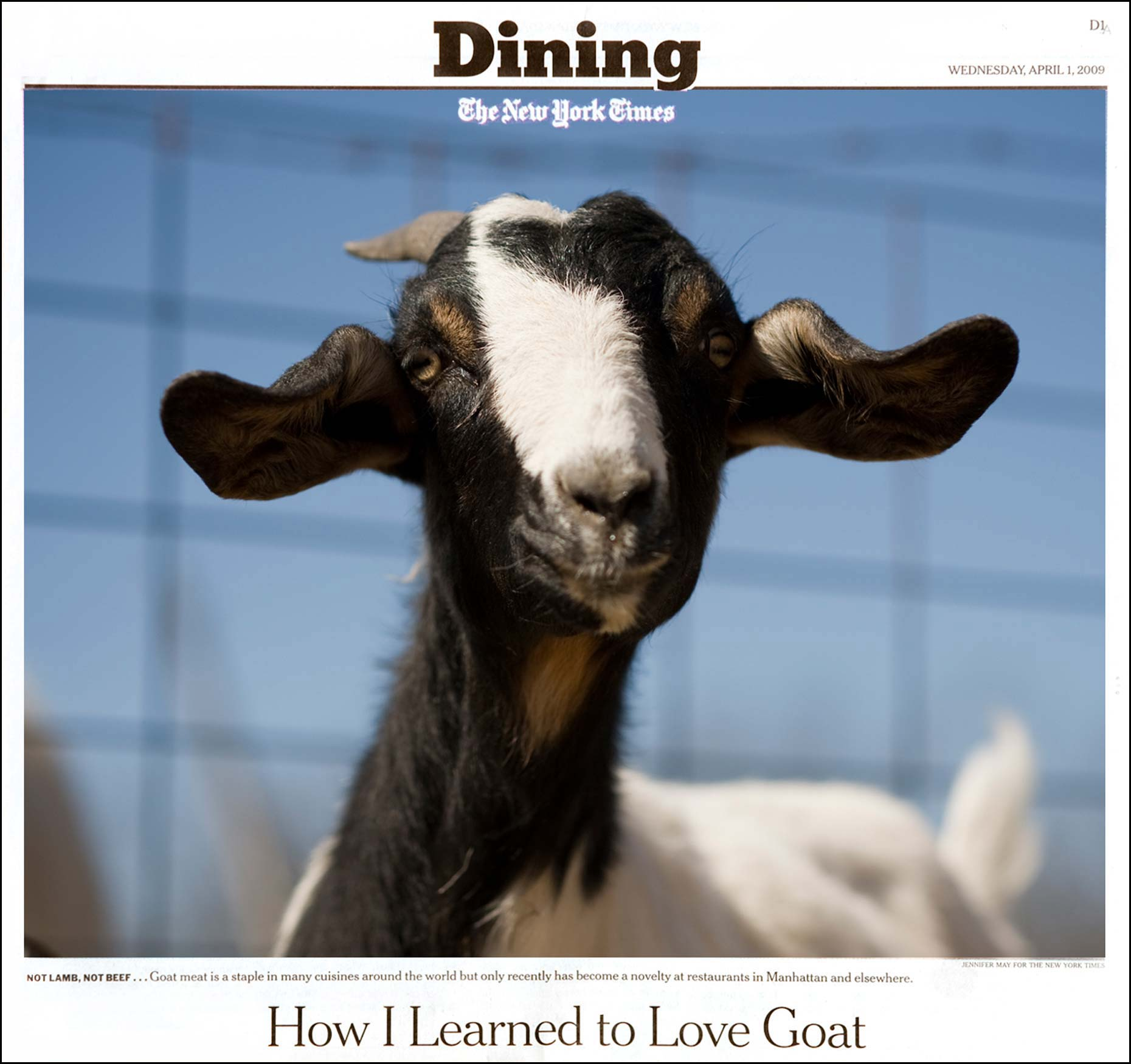 Food photographer Jennifer May Meat Goats NYTimes