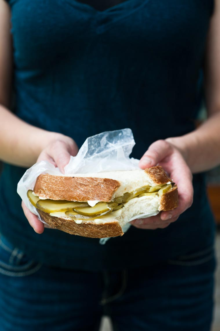 Pickle Sandwich Food Photography by Jennifer May NYC